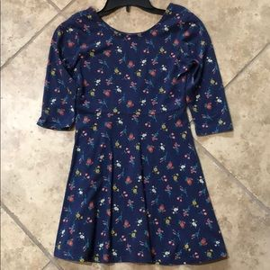 Old Navy Blue Floral Knit Dress